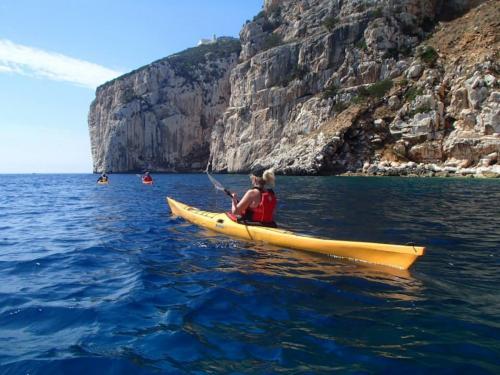 Kayaking in the sea of Alghero