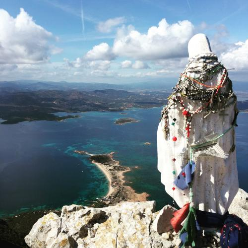 Statue on the top of Tavolara