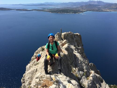 Girl on the top of the Tavolara island