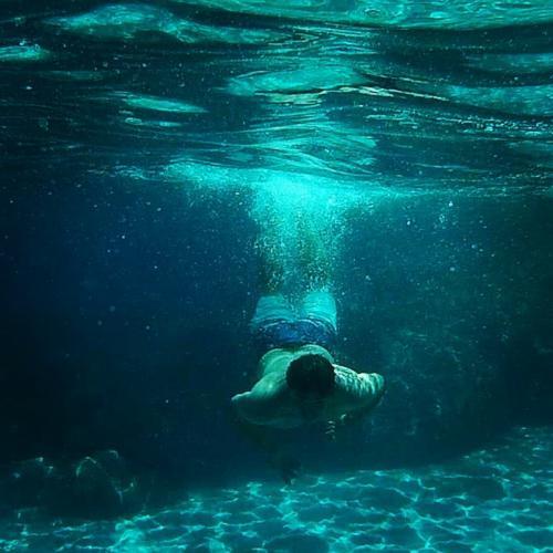 Boy goes snorkeling