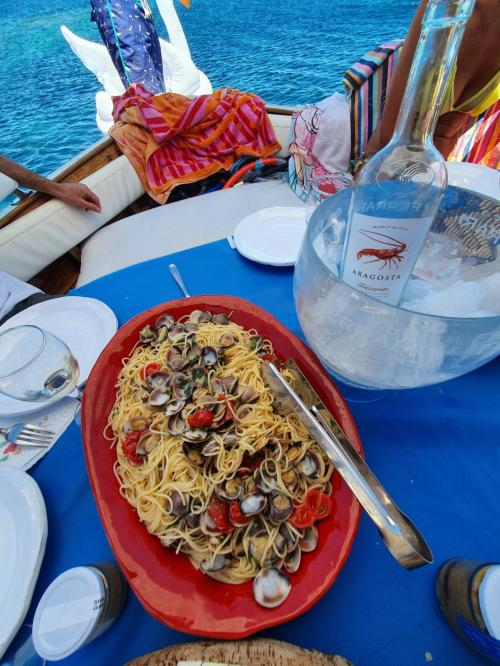 Lunch served on board