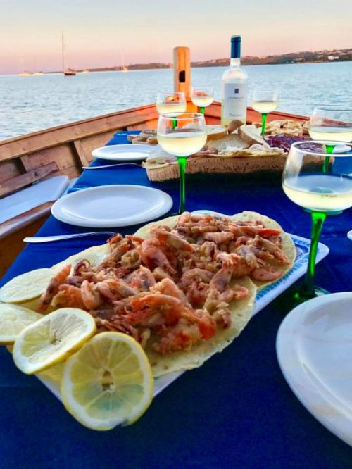 Fish-based lunch served on board
