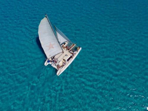 Catamaran in the Asinara sea