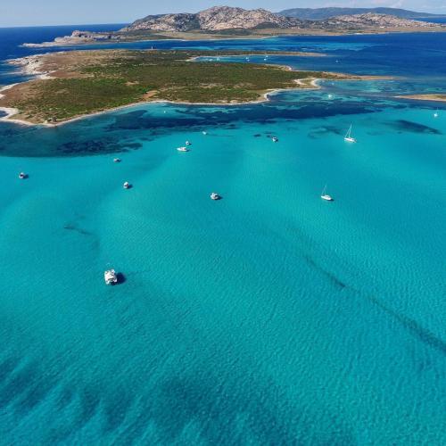 Catamaran charter in the Gulf of Asinara