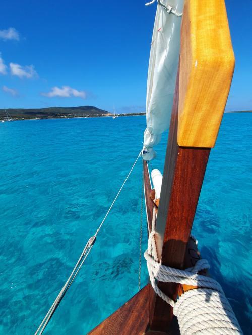 Vintage sailing ship in the Gulf of Asinara