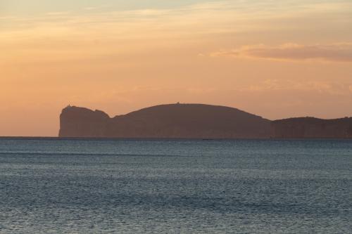 Capo Caccia von Alghero aus gesehen