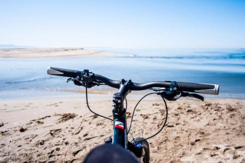 Bicycle in Oristano on the beach
