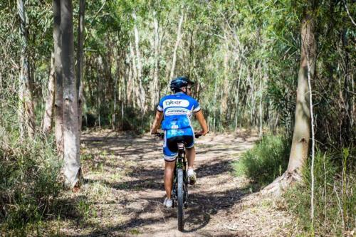Boy during a bike excursion to Torregrande