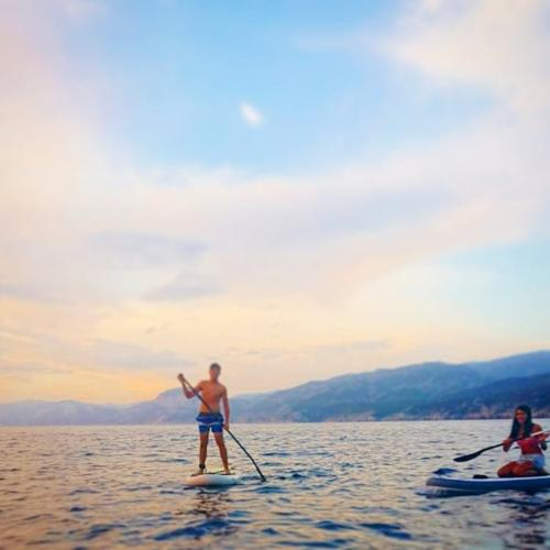 Kids during a SUP excursion