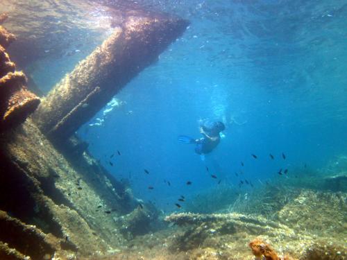 Schnorcheln und Wrack Unterwasserausflug