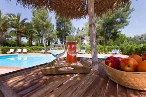 Aperitif by the pool