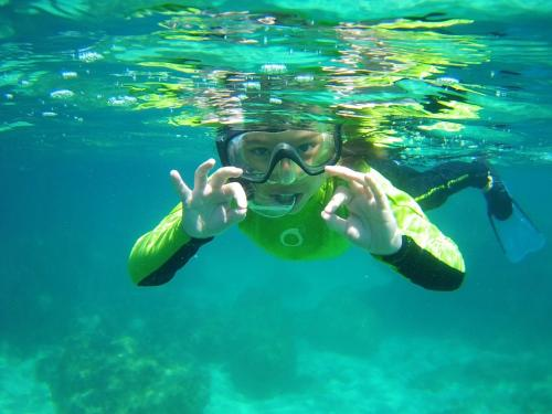 Little girl during snorkeling excursion