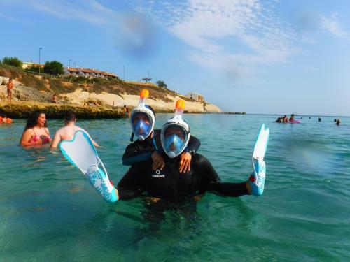 Hikers during snorkeling excursion to Balai