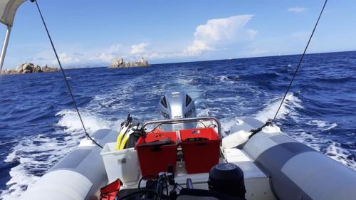 Beiboot im Golf von Olbia