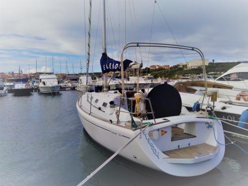 Segelboot im Hafen von Stintino
