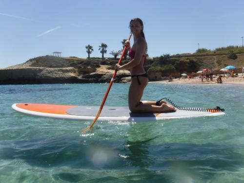 SUP girl in the Balai sea