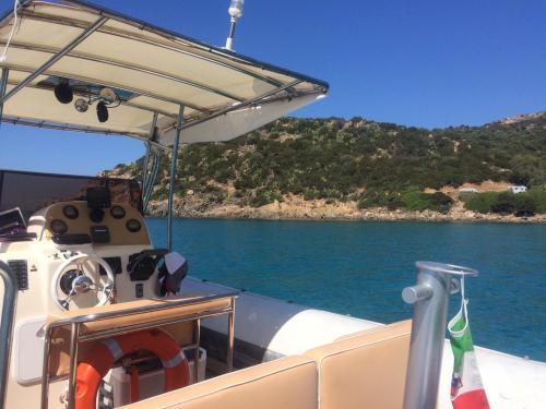 Dinghy in the coast of Cagliari