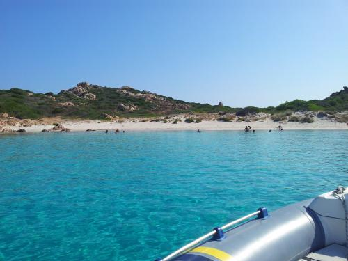 Inflatable boat on the Costa Smeralda