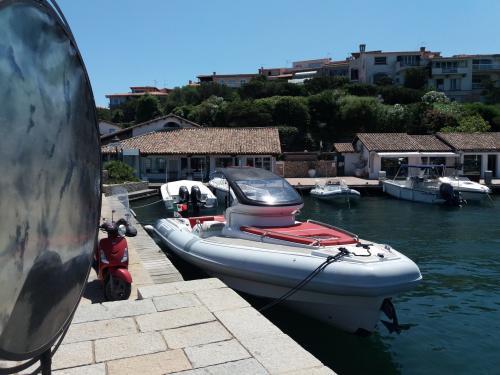 Rubber boat in Porto Rotondo