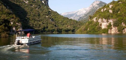 Boat in the Cedrino river