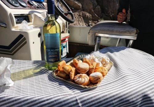 Aperitif on board a boat