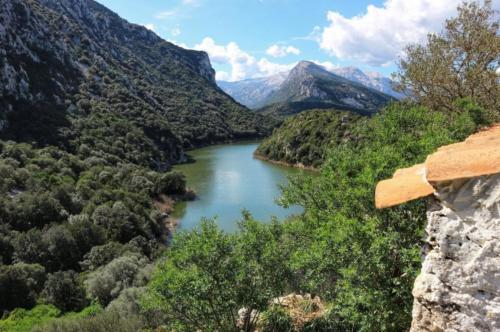 Cedrino river park with wonderful views of nature