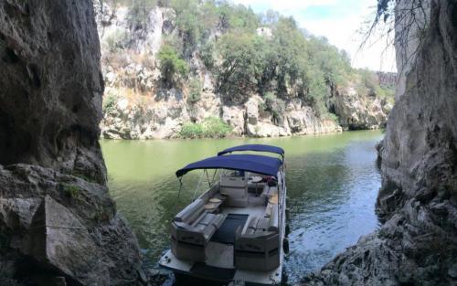 Boat in the Cedrino river park