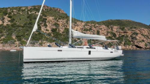 Sailboat in the sea of Bosa