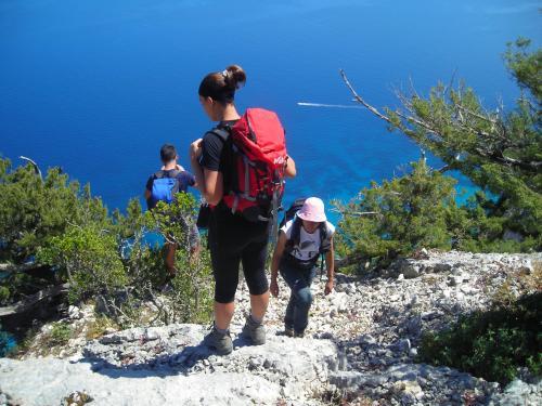 Hikers in Punta Salinas