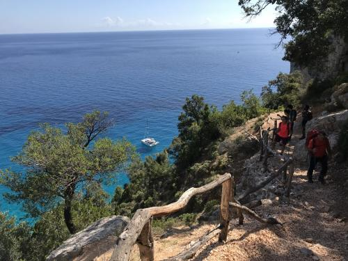 Trekking with sea view in the Supramonte