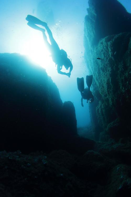 Immersion in the depths of the island