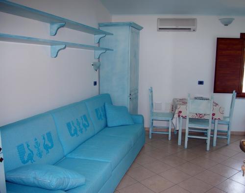 Wohnzimmer einer Residenz in Arbatax