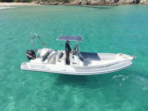 Rubber boat in La Maddalena Archipel