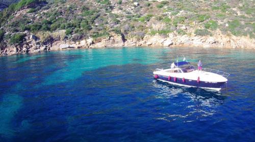 Motor boat in the La Maddalena Archipelago