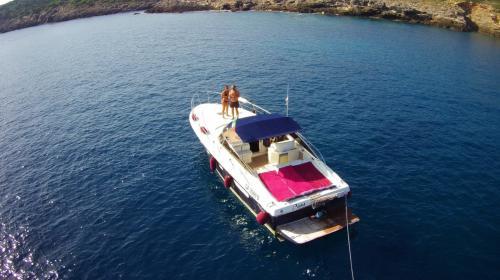 Motor boat in the sea of the La Maddalena Archipelago