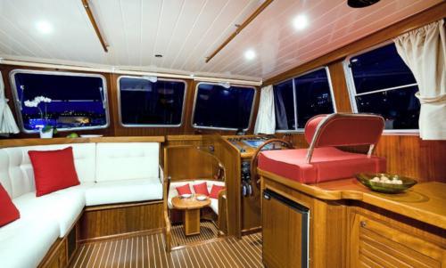 Palau motor boat interior