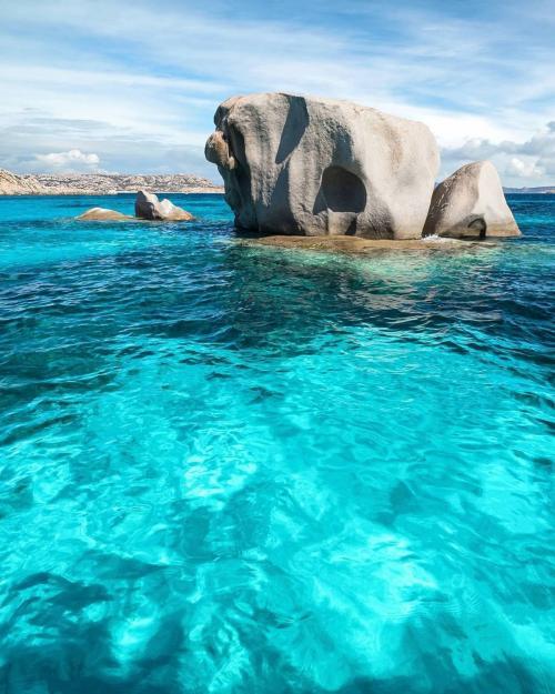 Typical rock of La Maddalena Archipel