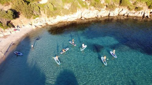 Foto panoramica escursione SUP Golfo Aranci