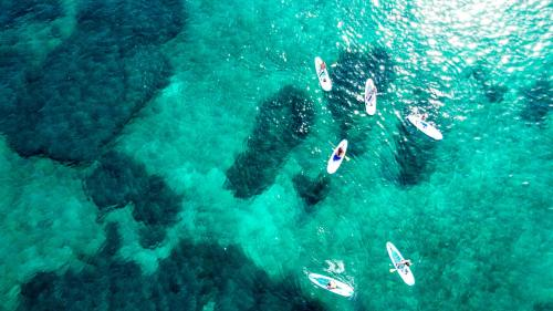 Foto drone escursione in SUP  San Teodoro