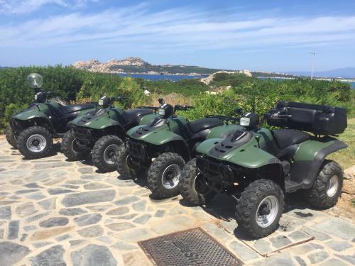 4 Quads in Santa Teresa geparkt