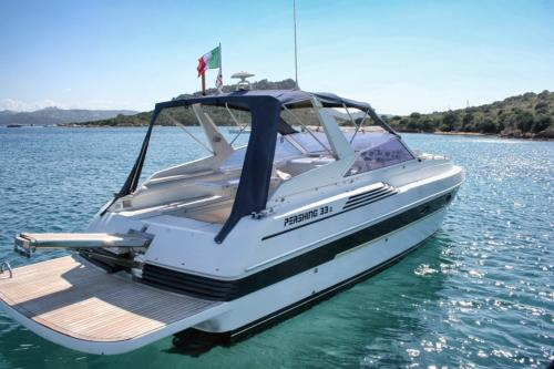 Boat moored in the La Maddalena Archipelago